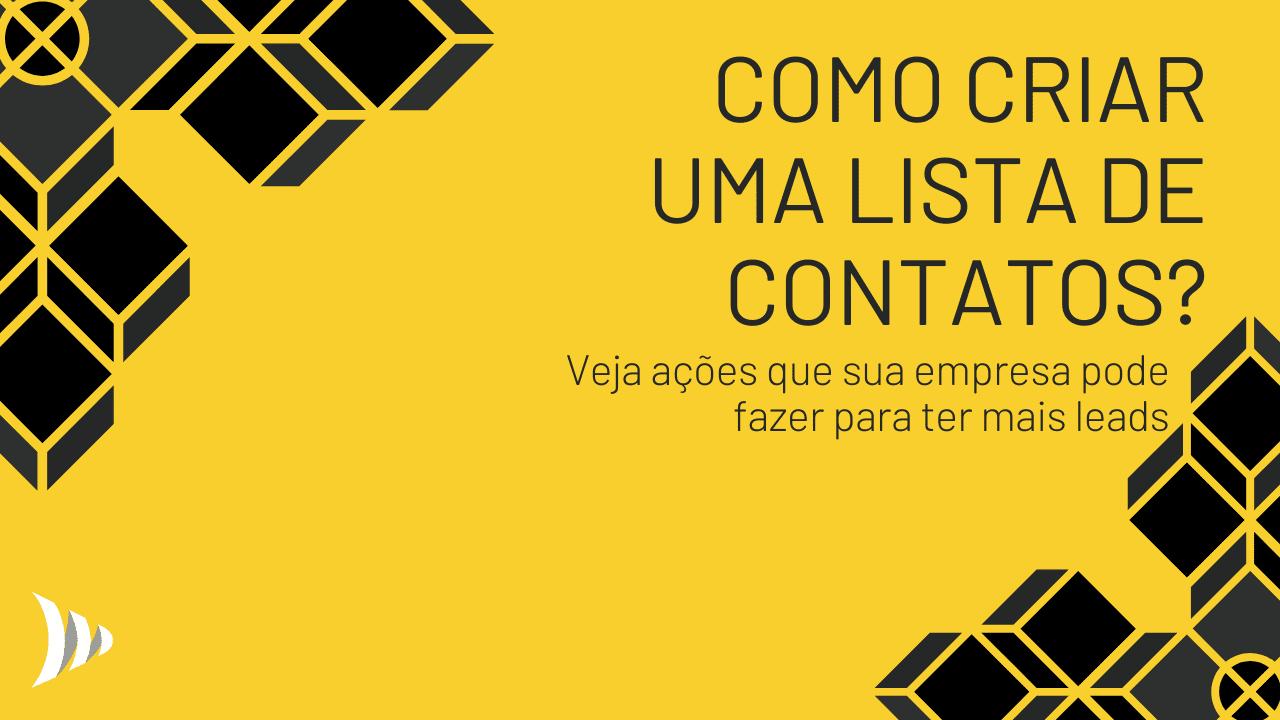 Como criar lista de contatos?