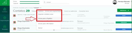 Integração Ramper PipeRun CRM de Vendas