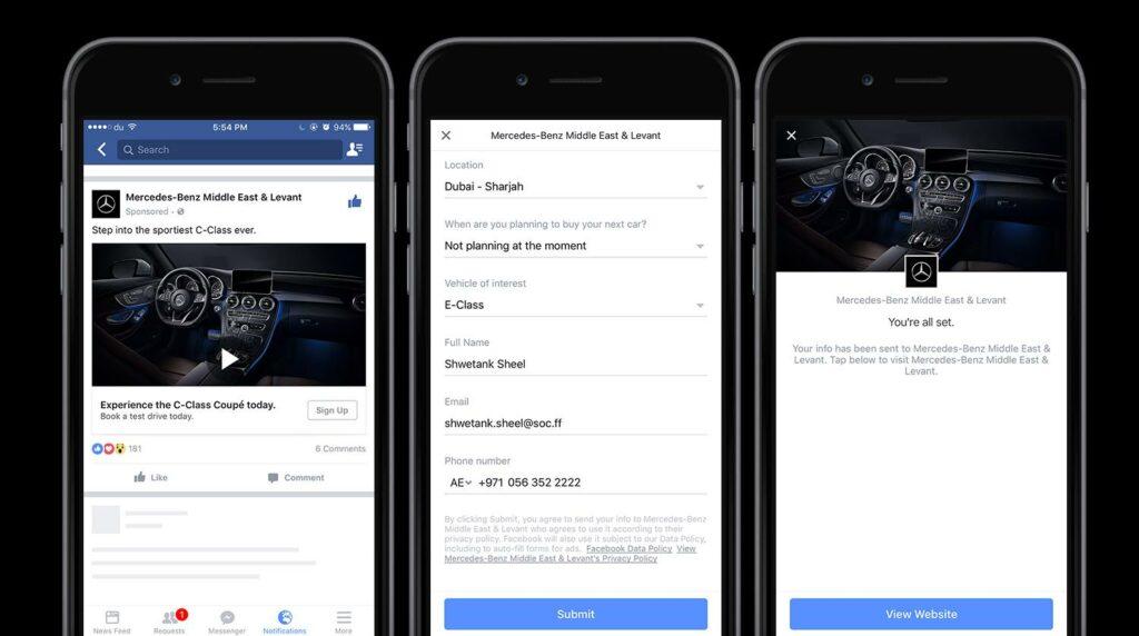 Gerador de Cadastros Facebook Lead Ads