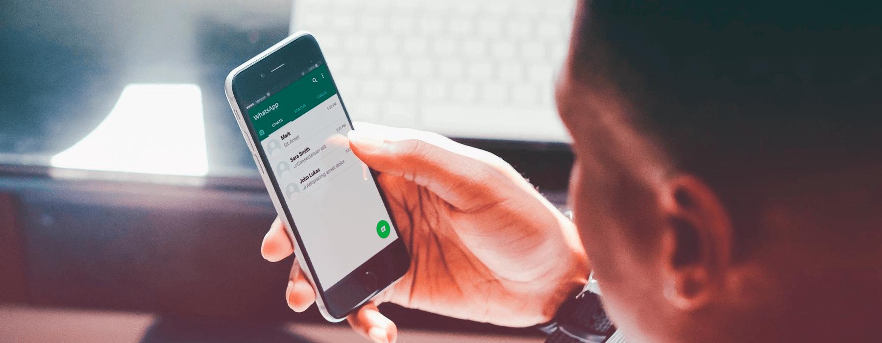mensagem para cliente no WhatsApp