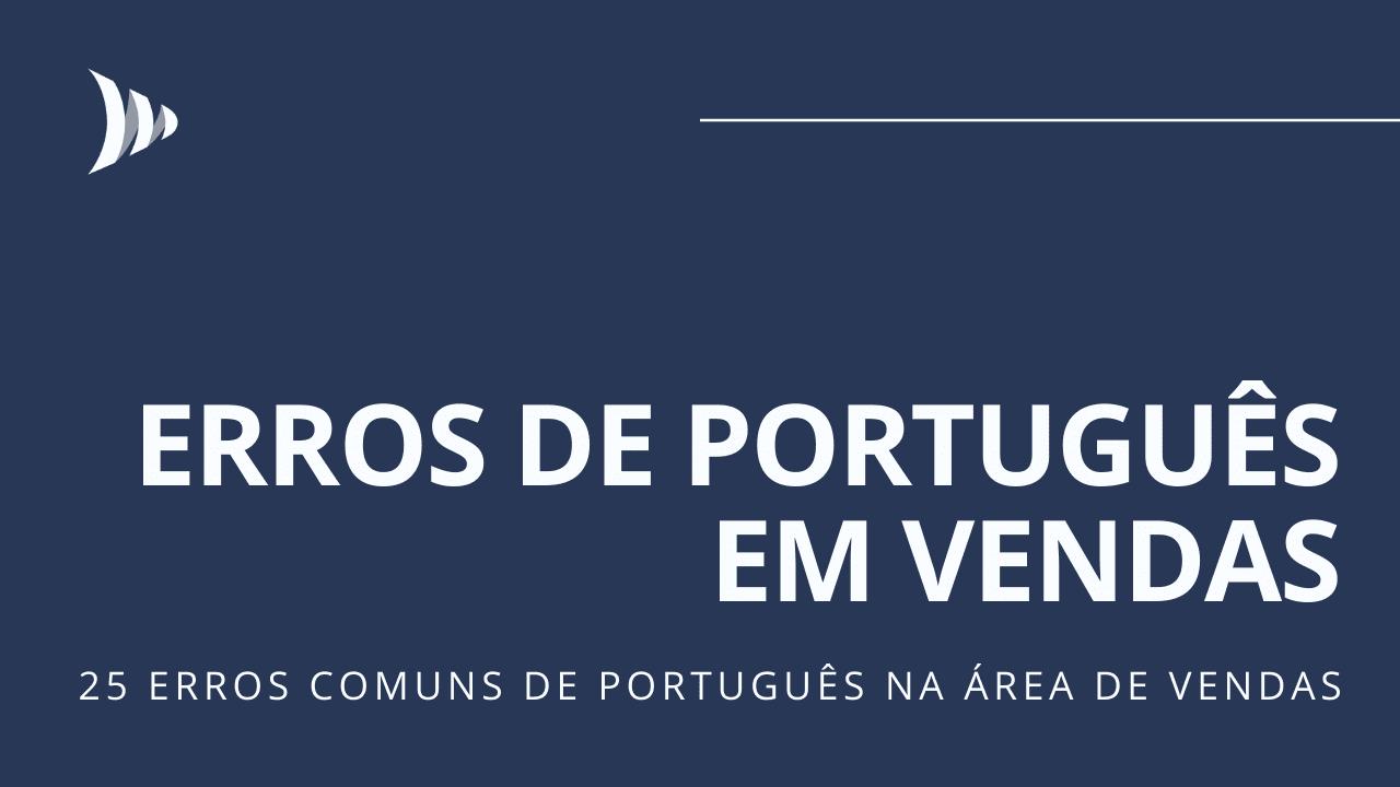 Erros de português em vendas