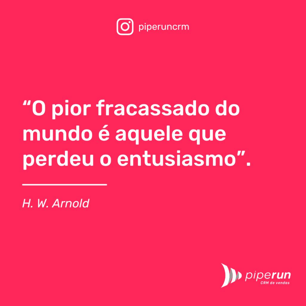 Frase motivacional para vendedores: H. W. Arnold