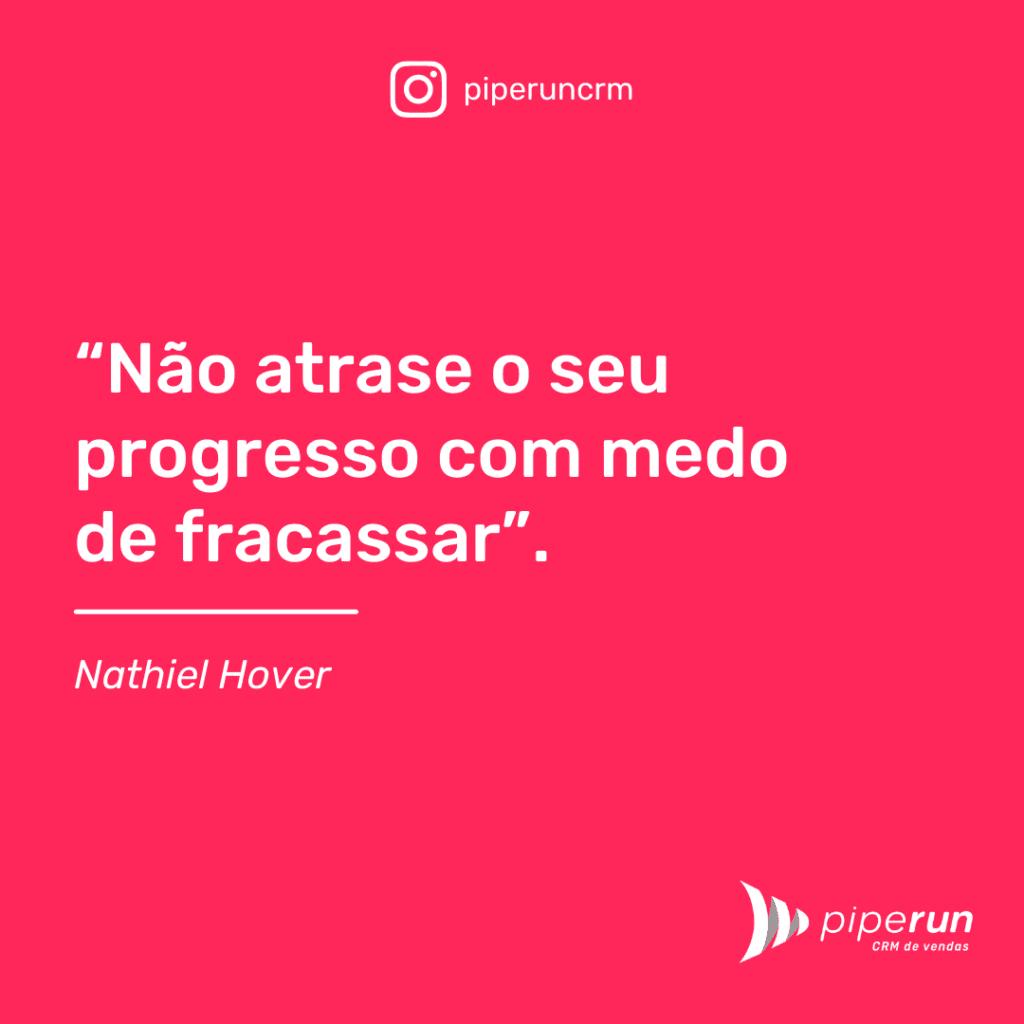 Frases motivacional para vendas: Nathiel Hover