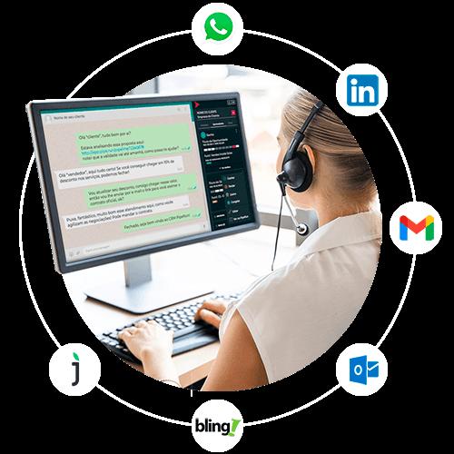 CRM Integrado ao WhatsApp Web