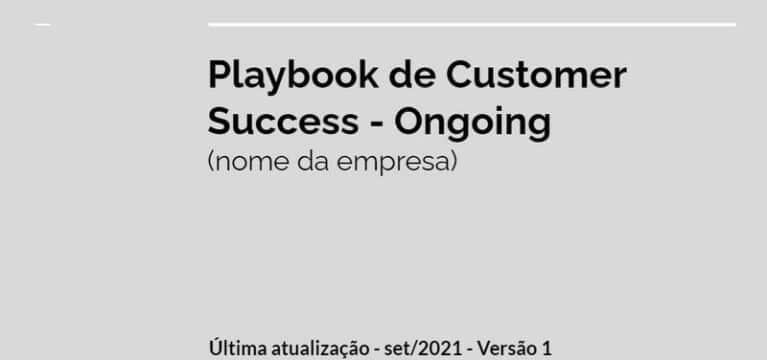 Playbook customer success funil cs ongoing